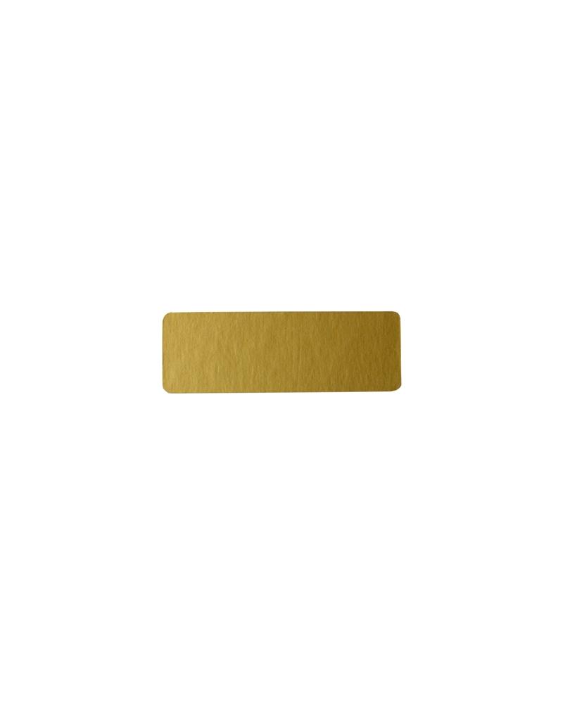 Rolo(500)Etiquetas Rectangular Dourado Mate - Dourado - 4.5x1.5cm - ET0128