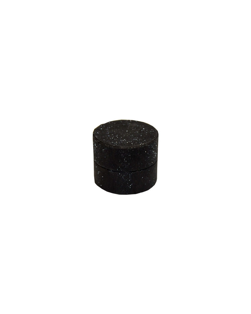 Caixa Linha Round Black Glossy para Anel e Brincos - Preto - 5.3x5.3x4cm - EO0715