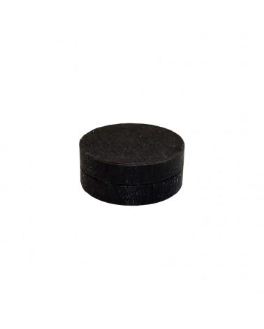 Caixa Linha Round Black Glossy para Set - Preto - 9x9x3.5cm - EO0716