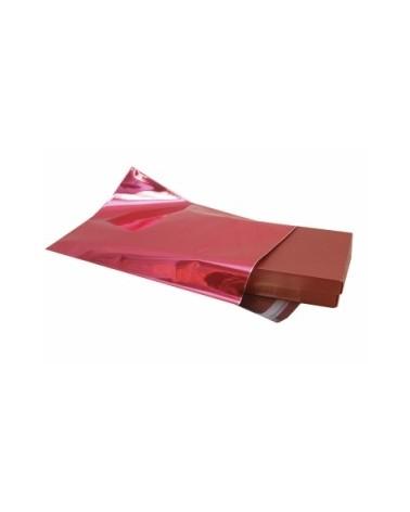 Saco c/Pala Autocolante Metalizado Fundo Vermelho - Vermelho - 18x18+3 - SC0482