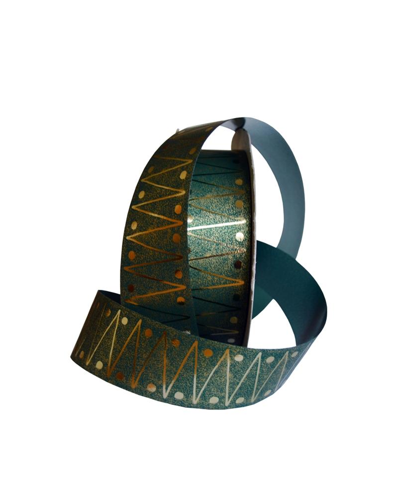 "Rolo Fita Metalizada ""Zippo"" Verde 31mm 50mts - Verde - 31mmx50mts - FT2977"