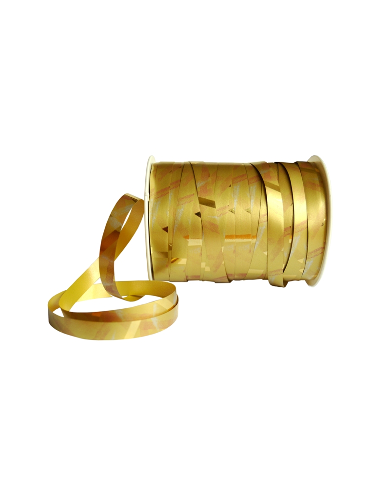 "Rolo Fita Metalizada ""Shanghai"" Dourado 10mm - Dourado - 10mmx250mts - FT2995"