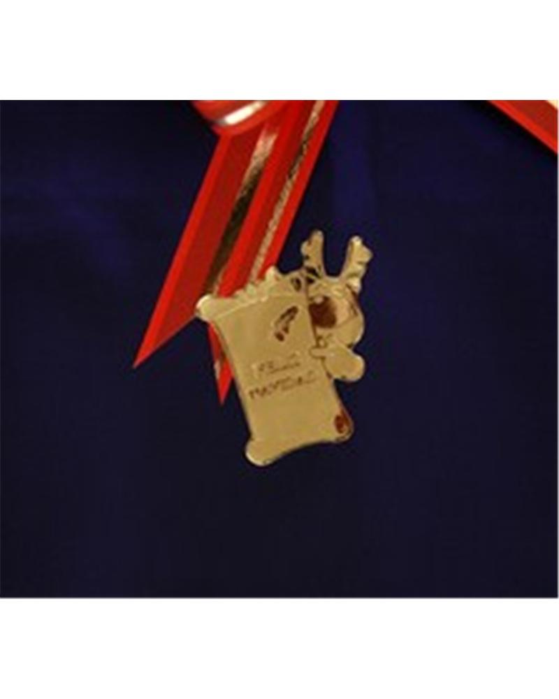 "Rolo C/ 500 Etiquetas c/ Rena ""Feliz Navidad"" Dourado - Dourado - 3.5x4cm - ET0452"
