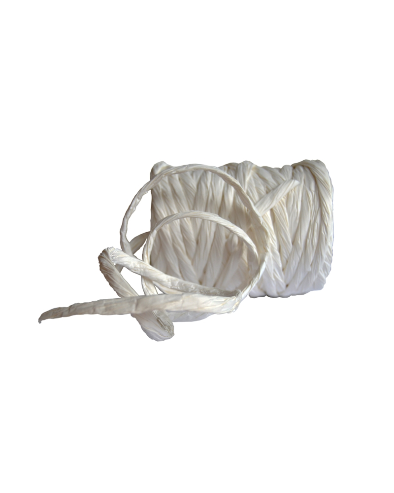 "Rolo de Fita ""Rope Corda"" Branco - Branco - 10cmx25mts - FT3141"