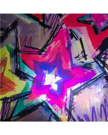 Papel Laminado Riscas e Estrelas - Vários - 70x100cm - PP1845
