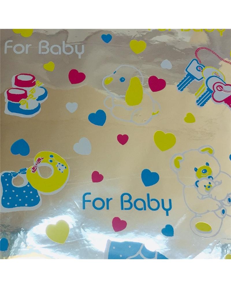 """Papel Laminado """"Baby"""" - Prateado - 70x100cm - PP1858"""