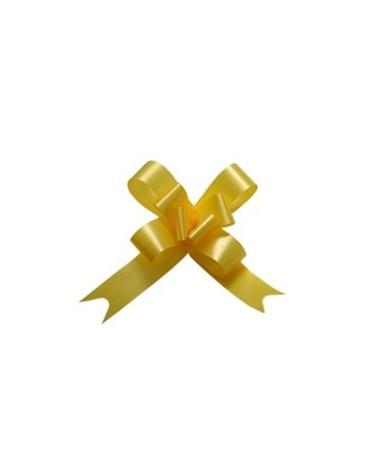 Laço de Puxar de Seda Amarelo Cl. 12mm - Amarelo - 12mm - LÇ0393