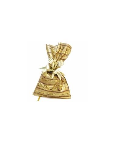 SC C/ PALA POLIP. METAL ETNIC DOUR. 10X15 (1000) - Dourado - 10x15 - SC1984