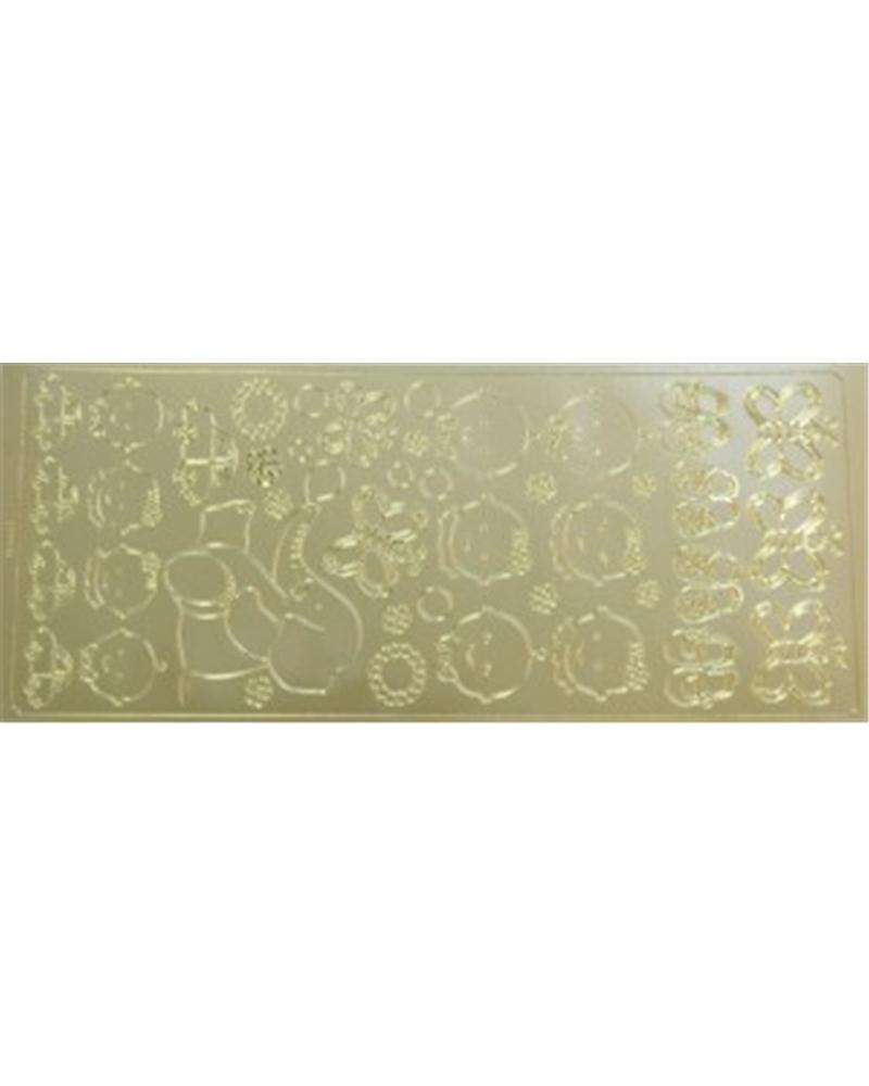 Etiquetas Troqueladas Criança Ouro (min.10) - Dourado - Vários - ET0305