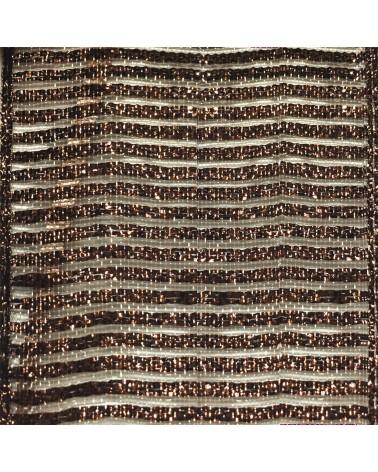 Laço Rafia Metal c/Autocolante Ouro 15mm - Dourado - 15mm - LÇ0567