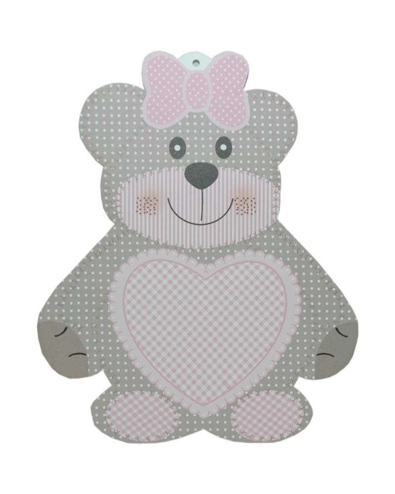 Caixa Teddy Bear Rosa Sagoma Orsetto 270x335 - Rosa - 270x335mm - CX3520