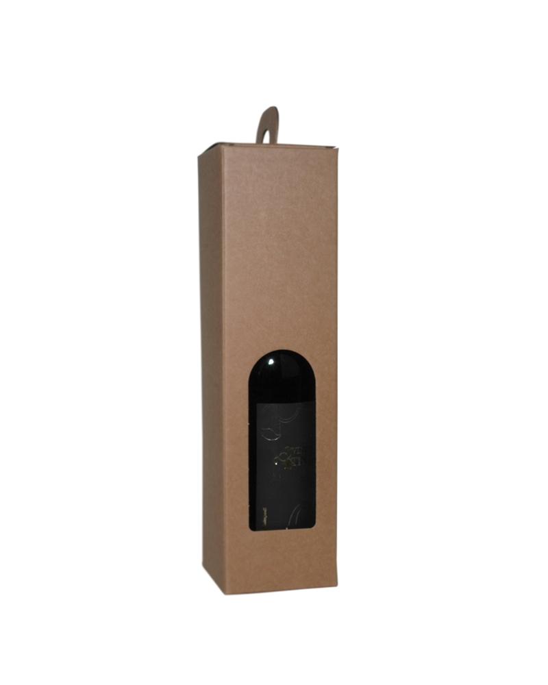 Caixa Avana Valigia para 1 Garrafa - Kraft - 90x90x340mm - CX3487