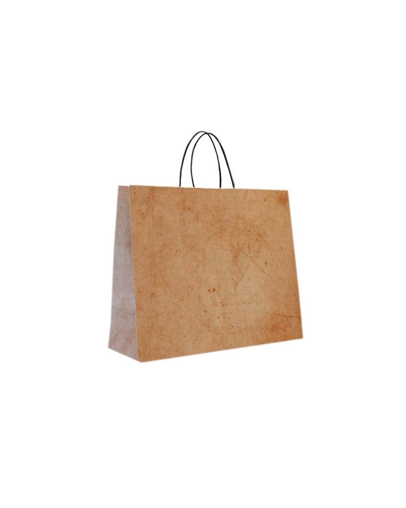 Saco Asa Retorcida Reciclado Fd Bege Marmoreado - Bege - 32+10x27.5 - SC3482