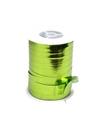 Rolo Fita Metalizada Verde Maçã 10mm - Verde - 10mmx250mts - FT4106