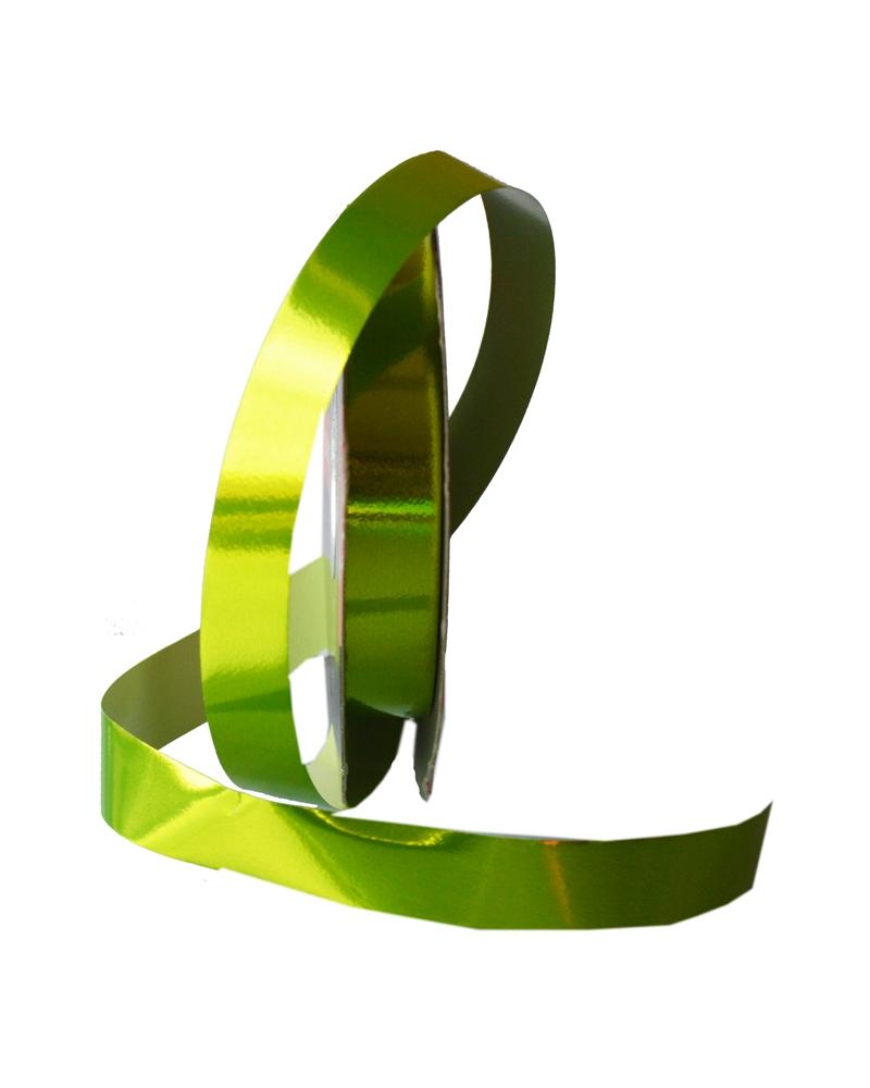 Rolo Fita Metalizada Verde Maçã 19mm - Verde - 19mmx100mts - FT4107