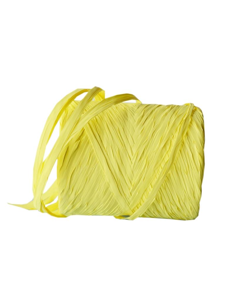 Rolo Fita Rafia Amarelo - Amarelo - 15mmx200mts - FT3301