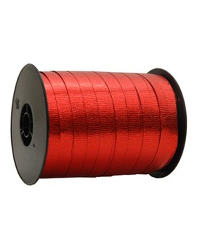 Rolo Fita Metalizada Gofrada Vermelho 10mm - Vermelho - 10mmx250mts - FT4112