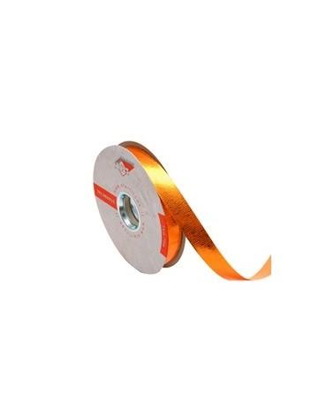 Rolo Fita Metalizada Gofrada Laranja 19mm - Laranja - 19mmx75mts - FT4116