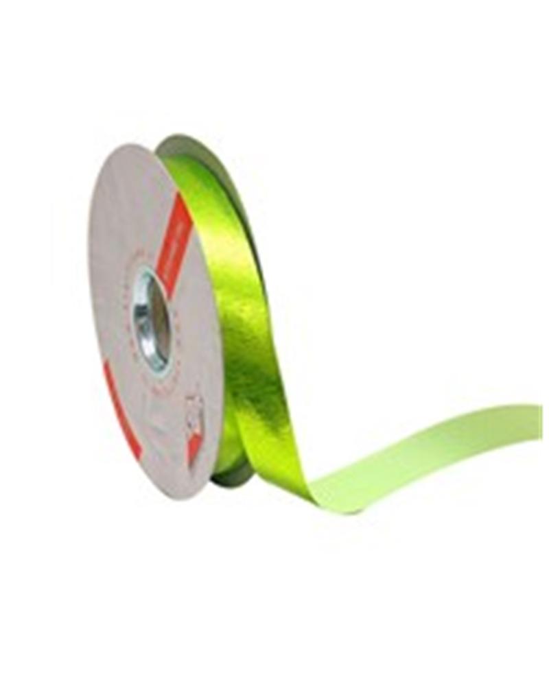 Rolo Fita Metalizada Gofrada Verde Maçã 19mm - Verde - 19mmx75mts - FT4119