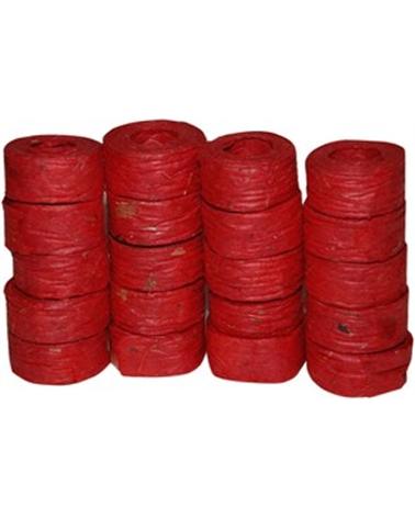 "Rolo Fita Artesenal Wrinkle Vermelho 1""x10mts - Vermelho - 23mmx10mts - FT4502"