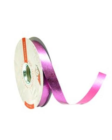 Rolo Fita Metalizada Gofrada Rosa 19mm - Rosa - 19mmx75mts - FT4125