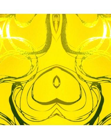 Rolo de Fita Metalizada Amarela c/Arabescos 31mm - Amarelo - 31mmx100mts - FT4128