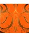 Rolo de  Fita Metalizada Laranja c/Arabescos 31mm - Laranja - 31mmx100mts - FT4130