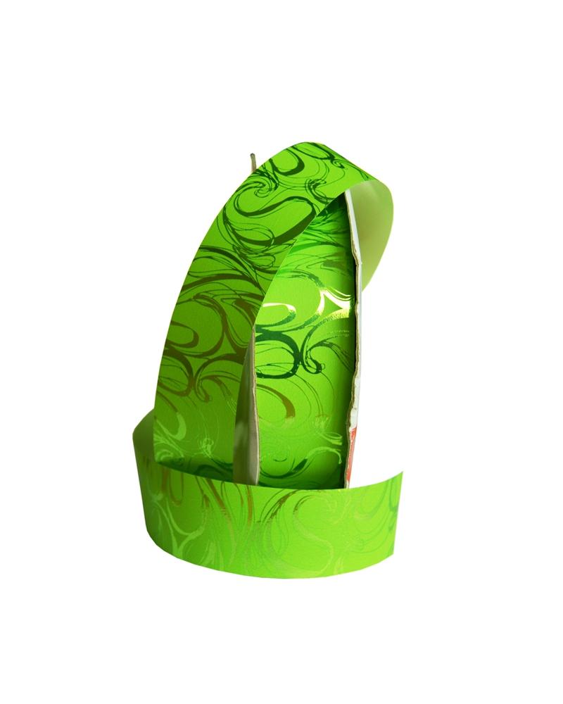 Rolo  de Fita Metalizada Verde c/Arabescos 31mm - Verde - 31mmx100mts - FT4136