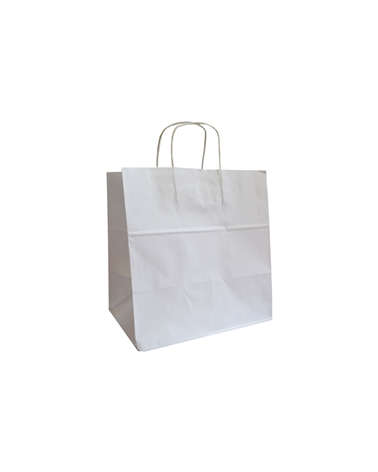Saco Asa Retorcida Take Away Kraft Branco - Branco - 31+20x32 - SC3502