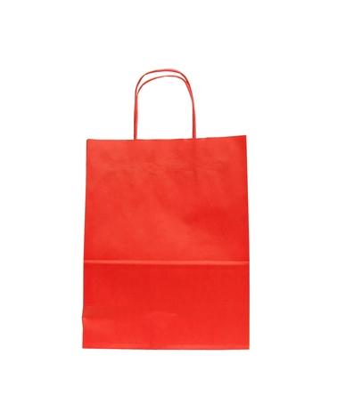 Saco Asa Retorcida Branco Liso Fundo Vermelho - Vermelho - 24+12x31 - SC2986