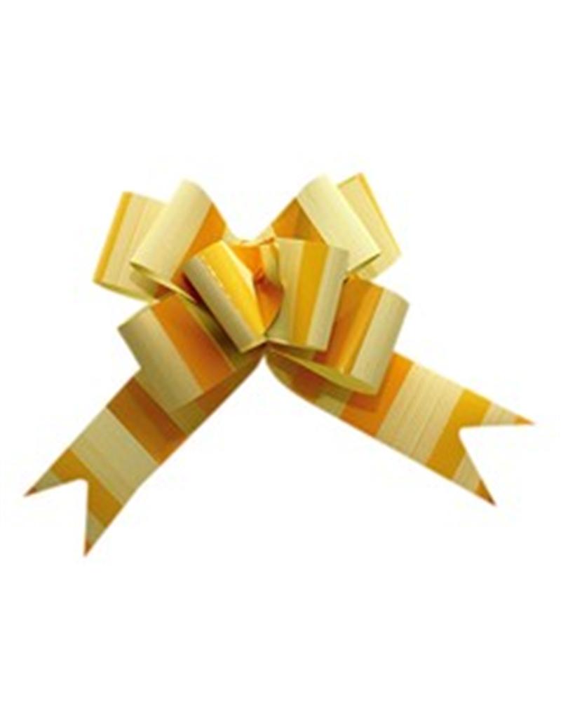 Laço de Puxar Metalizada Listada Amarelo 31mm (c/100) - Amarelo - 31mm - LÇ0604