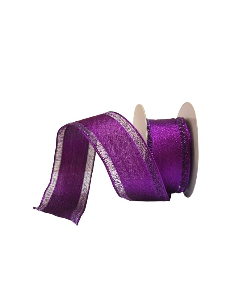 Fita Tecido Lilás c/Bordos em Lilás 40mmx10y - Lilás - 40mmx10mts - FT4198