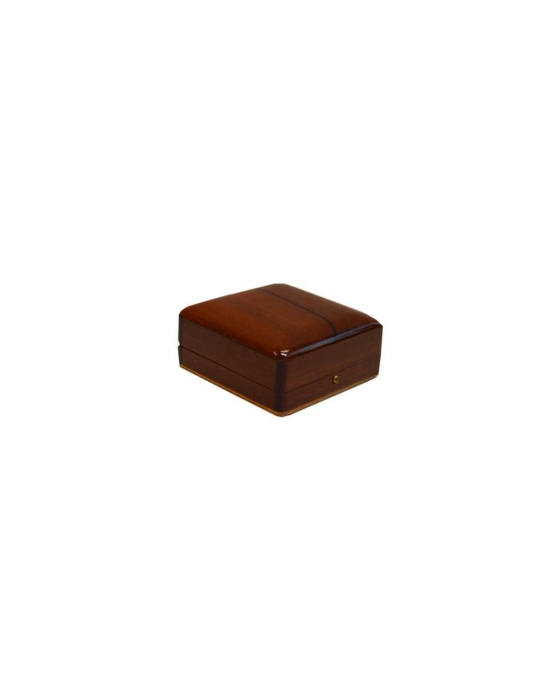 Caixa Madeira Natus Verniz p/Diversos - Castanho - 6.5x6.5x3 - EO0047