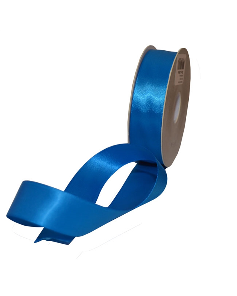 Rolo Fita Cetim Dupla Face Azul - Azul - 25mmx25mts - FT5325