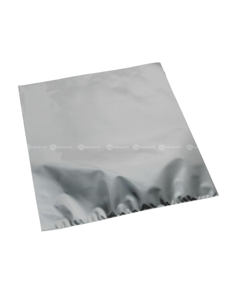Saco c/Pala Autocolante Metalizado Fundo Prateado - Prateado - 18x15+5cm - SC3112