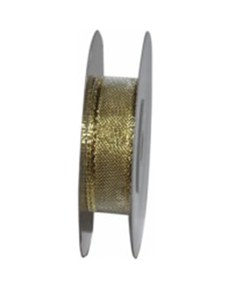 Fita Organza Metalizada Dourado 40mm - Dourado - 40mmx10mts - FT3661
