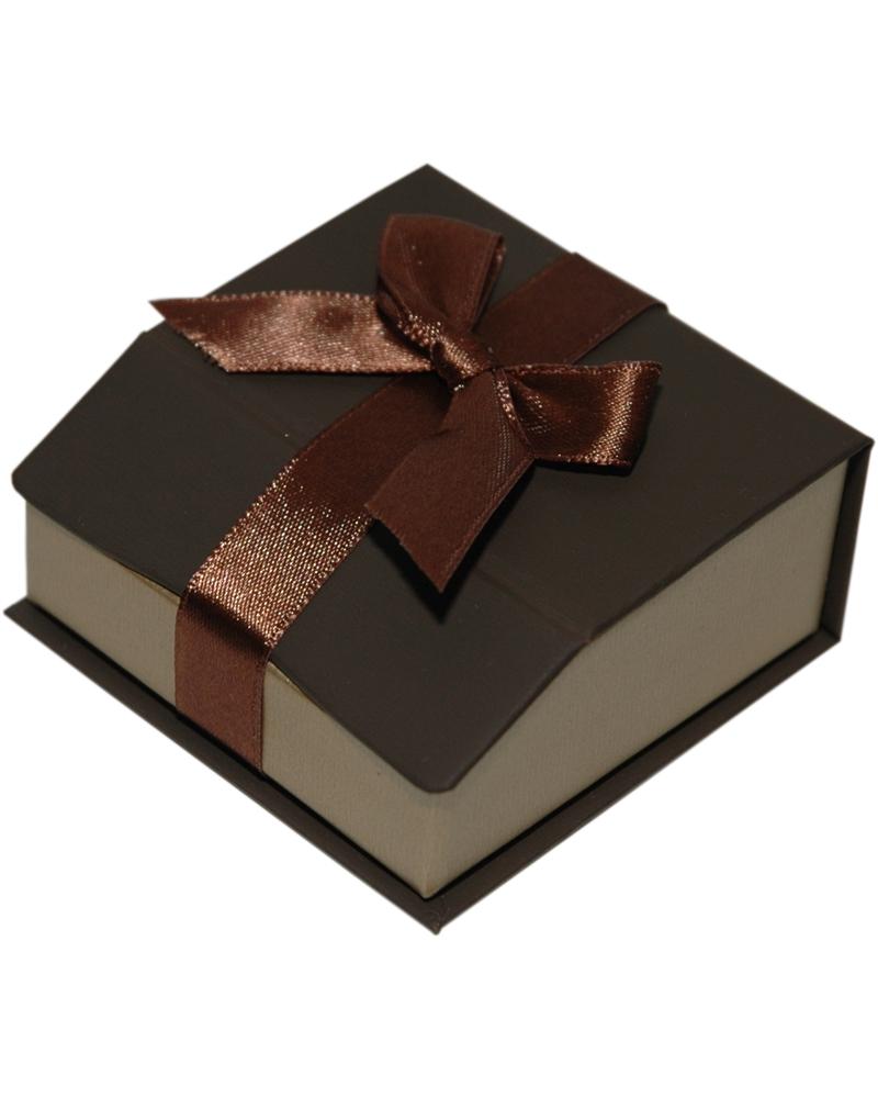Caixa Linha Gold Chocolate p/ Pendentes - Castanho - 6.5x6.5x3 - EO0649