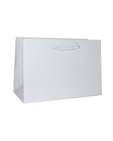 Saco Prestige Dupla Face Branco/Kraft c/Fita - Branco - 22+10x15 - SC3329