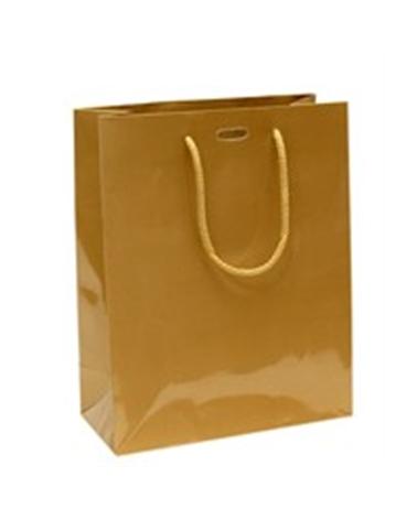 Saco Asa Cordão Dourado com Corte para Fita - Dourado - 22+10x27.5 - SC0896