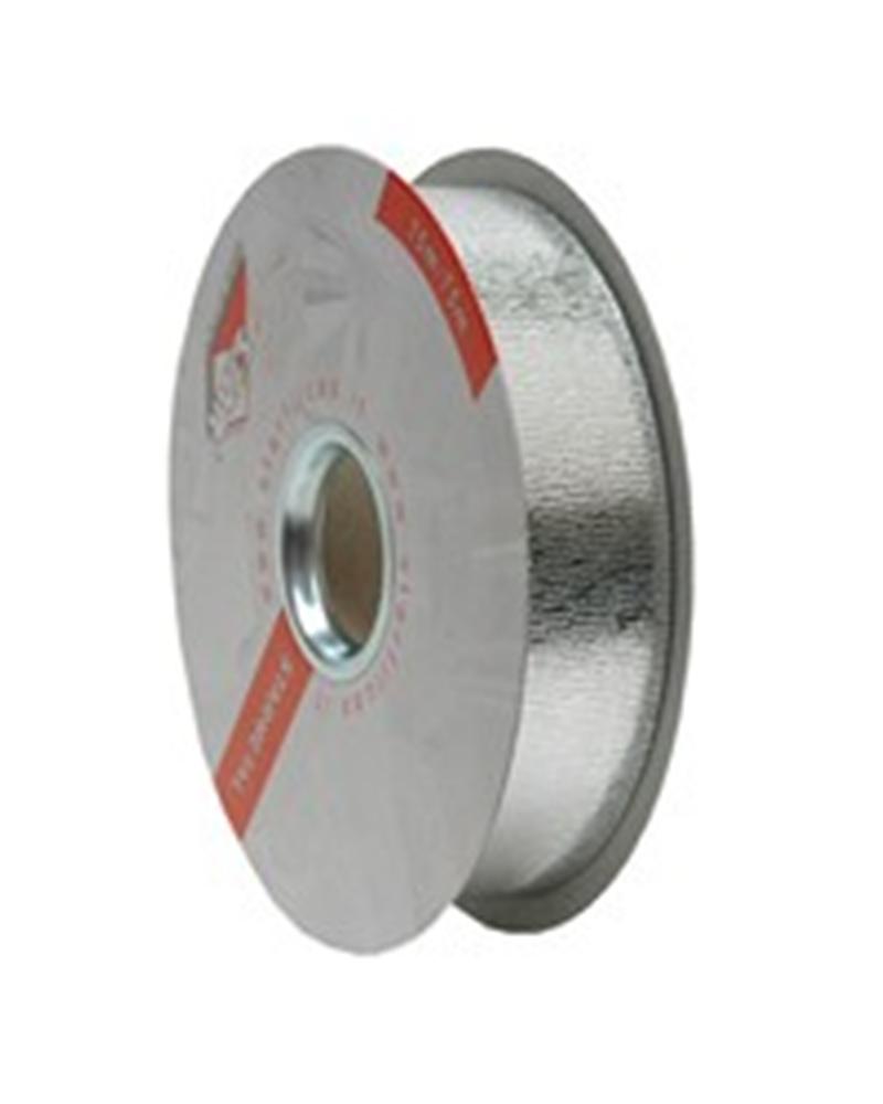 Rolo Fita Metalizada Gofrada Prateado 31mm - Prateado - 31mmx75mts - FT4390