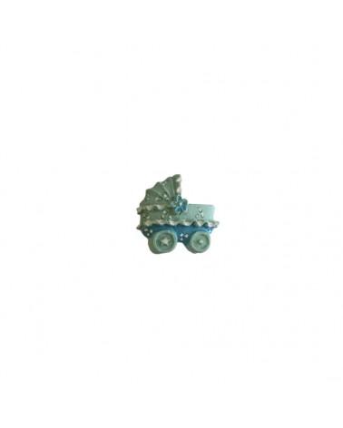 Caixa c/12 Carrinhos de Bébé c/autocolante - Azul - 2.5cm - DVC0357