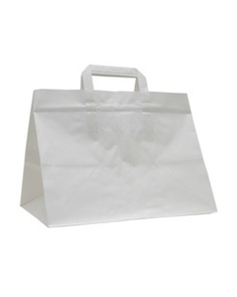 Saco Asa Plana Take Away Kraft Branco - Branco - 32+22x25 - SC2832