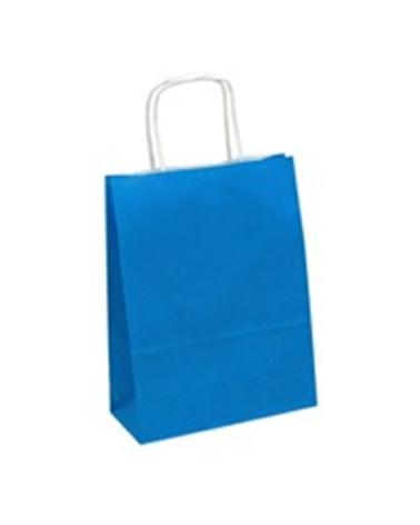 Saco Asa Retorcida Branco Liso Fundo Azul Claro - Azul Claro - 18+08x21 - SC3354