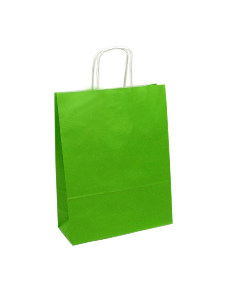 Saco Asa Retorcida Branco Liso Fundo Verde Claro - Verde Claro - 45+14x48 - SC3065