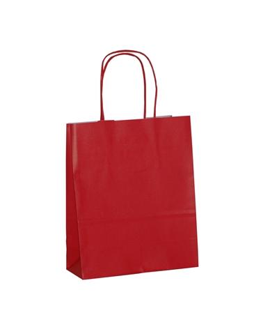 Saco Asa Retorcida Branco Liso Fundo Vermelho - Vermelho - 18+08x21 - SC3312