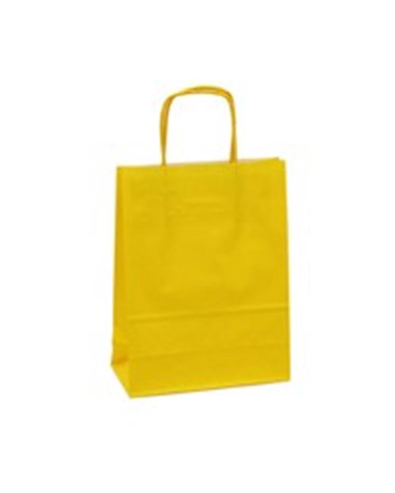 Saco Asa Retorcida Branco Liso Fundo Amarelo - Amarelo - 18+08x23 - SC0675