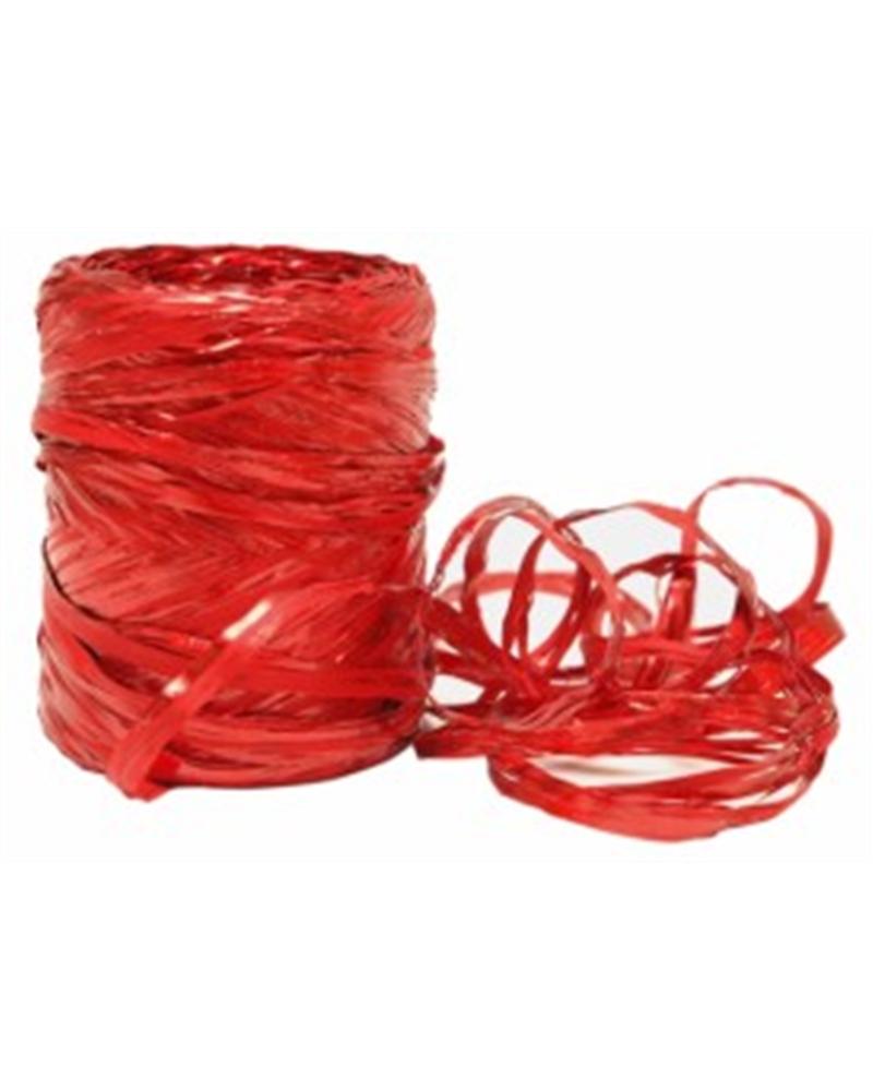 Rolo Rafia Metalizada Vermelho 15mmx200mts - Vermelho - 15mmx200mts - FT2444