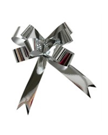 Laço de Puxar Metalizado Prateado - Prateado - 19mm - LÇ1191