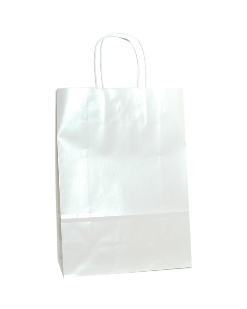 Saco Asa Retorcida Branco Fundo Branco Perola - Branco - 23+10x32 - SC3174