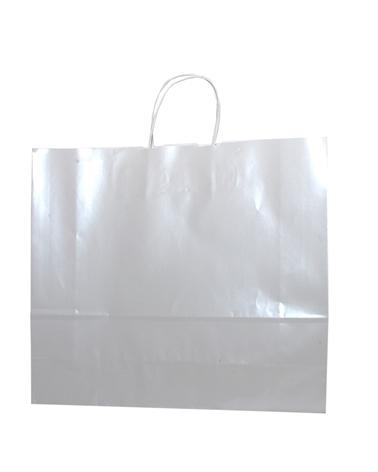 Saco Asa Retorcida Branco Fundo Branco Perola - Branco - 42+13x37 - SC3176
